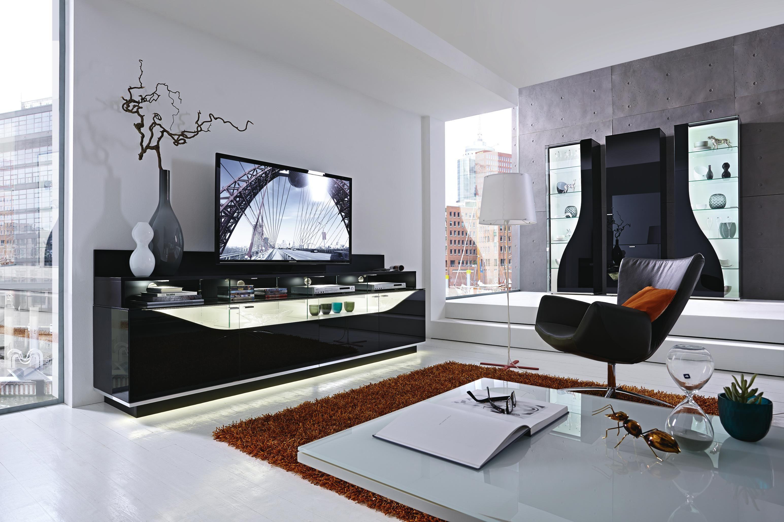 Stylische Wohnwand Von Leonardo Glasklare Qualitat Mit Besonderem Touch Wohnen