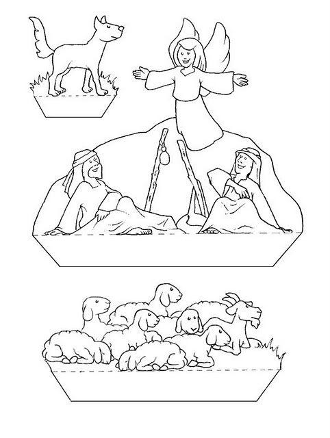 Navidad - Belén para colorear con niños - Molde   Jesucristo   Pinterest