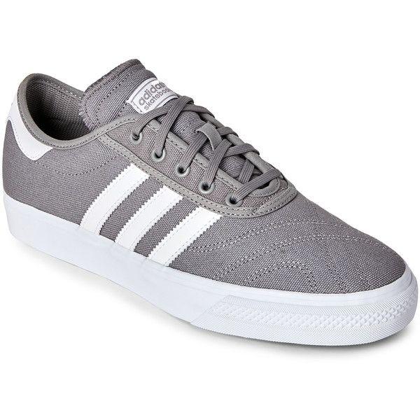 adidas grey & white dga - premiere skateboard sneakers (37
