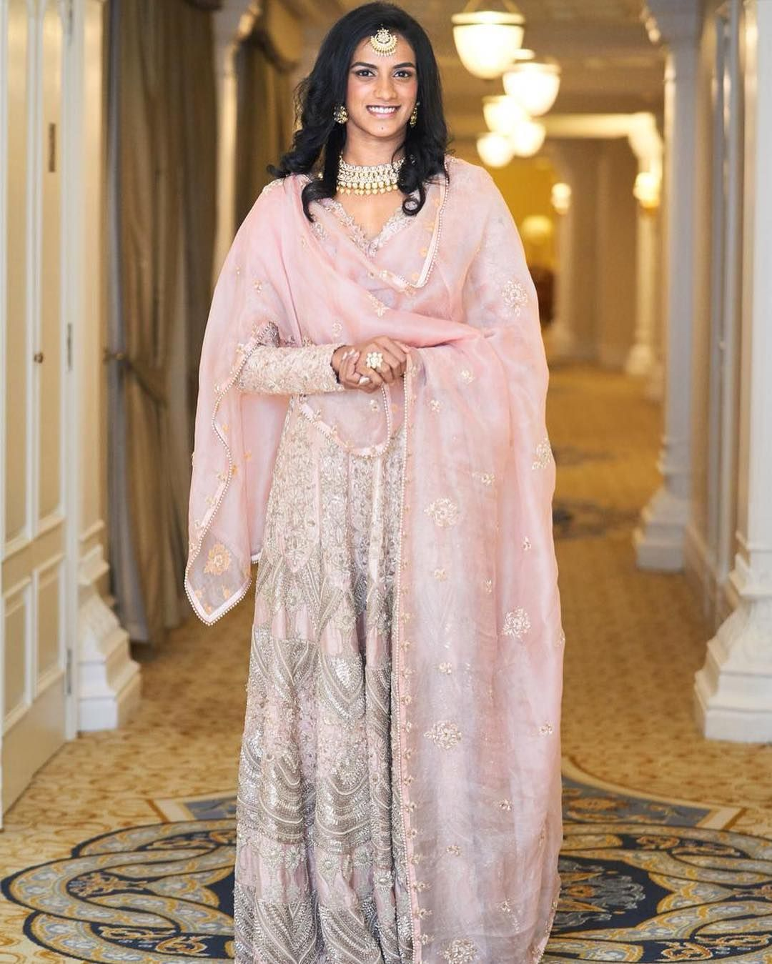 Wedding style diaries PV Sindhu Indian designer wear