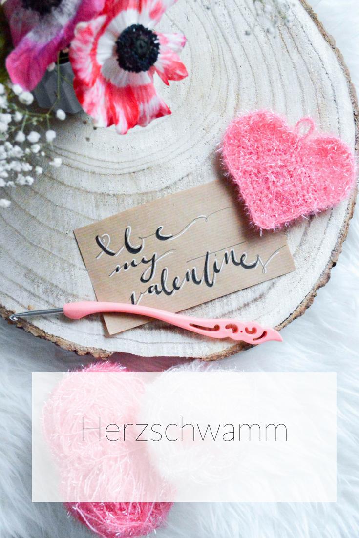 Herzschwamm Peelingschwamm Diy Valentinstag Geschenke Zum