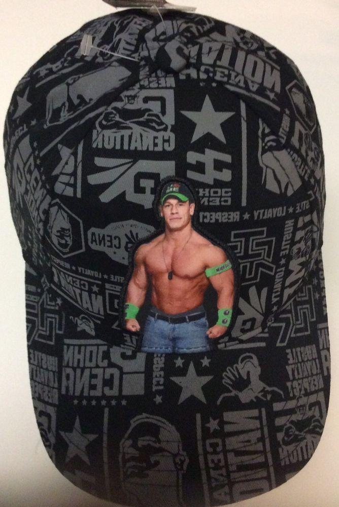 wwe john cena baseball hat cap wrestling never give up throwback