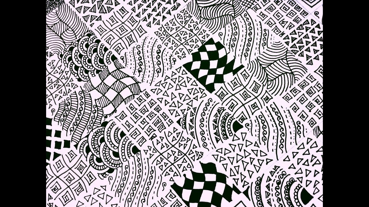 15 Easy Zentangle Patterns Full Page Zentangle Karthika Loves Diy Zentangle Patterns Easy Zentangle Patterns Zentangle