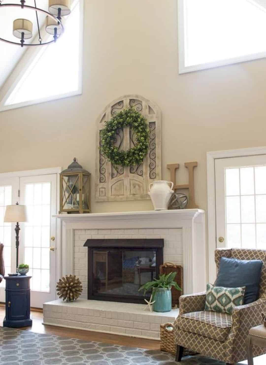 Admirable 16 Fireplace Mantel Decorating Ideas Fireplace Mantle Interior Design Ideas Inesswwsoteloinfo