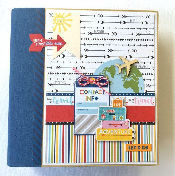 Travel Scrapbook Album Kit Or Premade Mini Scrapbook Album Vacation