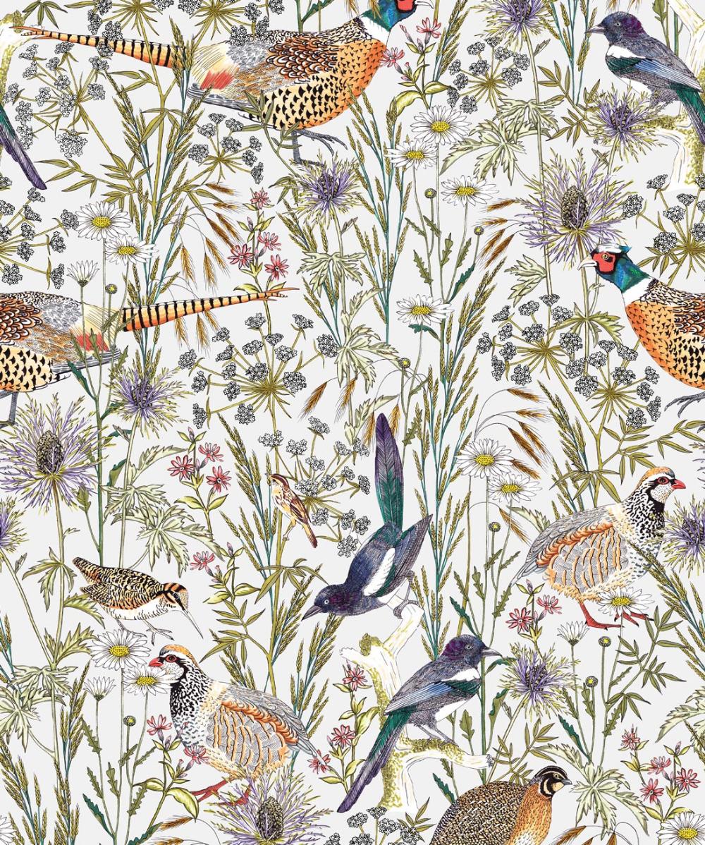 Woodland Birds • Lively Botanical Wallpaper Botanical