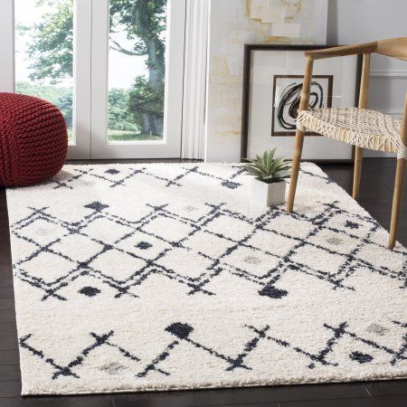 Safavieh Berber Vana Geometric Shag Area Rug Or Runner Walmart Com Shag Carpet Geometric Rug Shag Area Rug