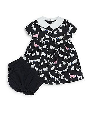 4b2a53c3ebe9 kate spade new york Baby's Kimberly Cat Print Knit Dress with Bloomers