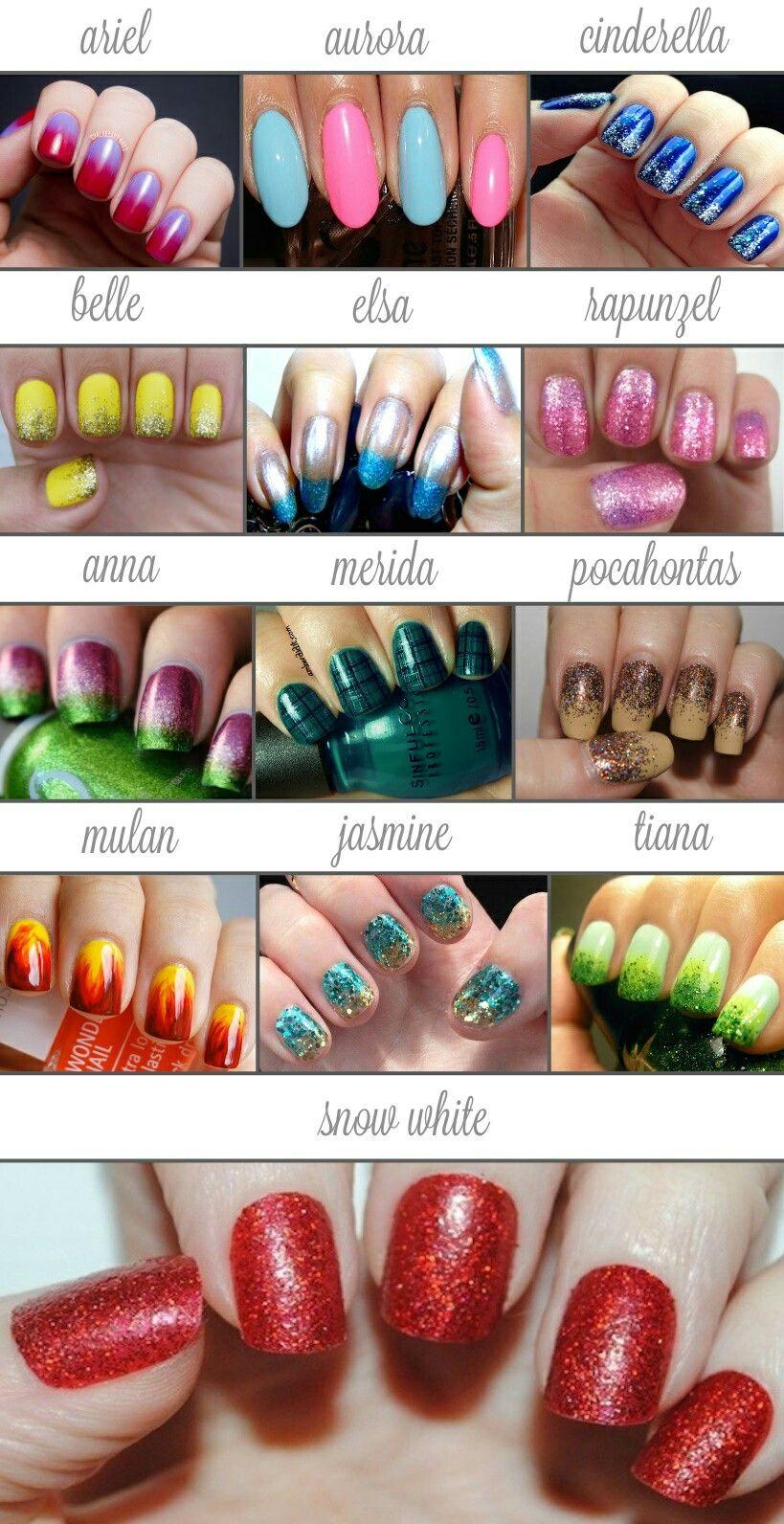 Simple Subtle Disney Princess Nails Nail Art Disney Princess Nails Disney Nail Designs Disney Inspired Nails