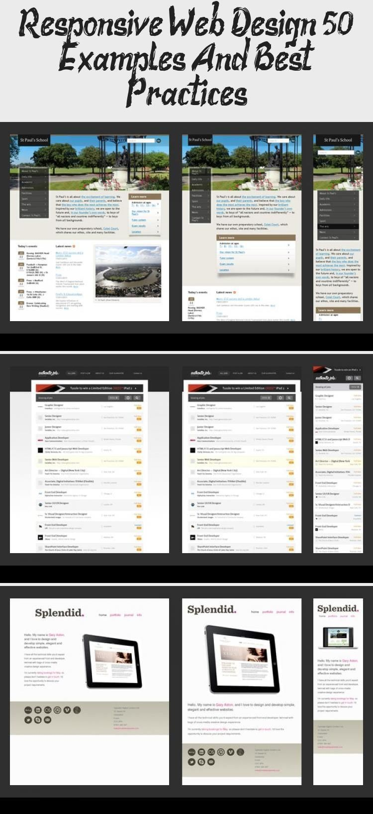Responsive Web Design 50 Examples And Best Practices Design Dchouzz Com Dchouzzcom Design Examples Practices Responsive Web En 2020
