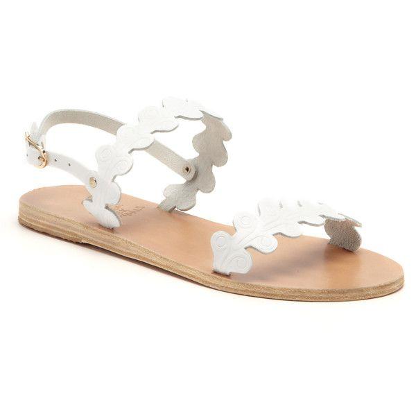 11707101751 Ancient Greek Sandals White Chloe Sandal ( 215) found on Polyvore ...