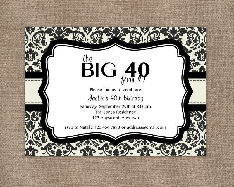 40th birthday party ideas for men - Google Search | leslie invite ...