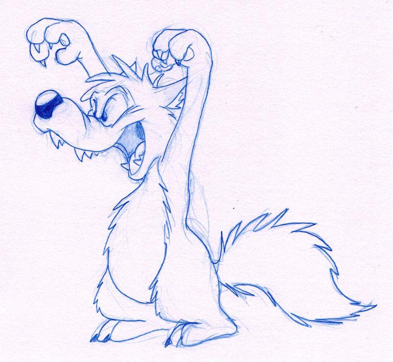 волк мультяшный рисунок карандашом материалы позволили создавать