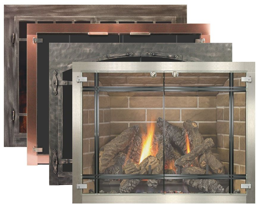 glass fireplace doors by stoll fireplace inc fireplace