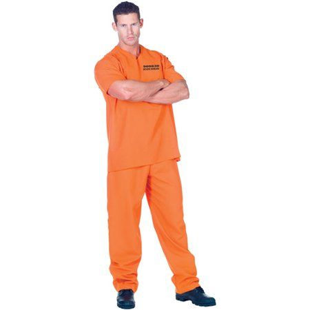 Free Shipping Buy Public Offender Adult Halloween Costume at