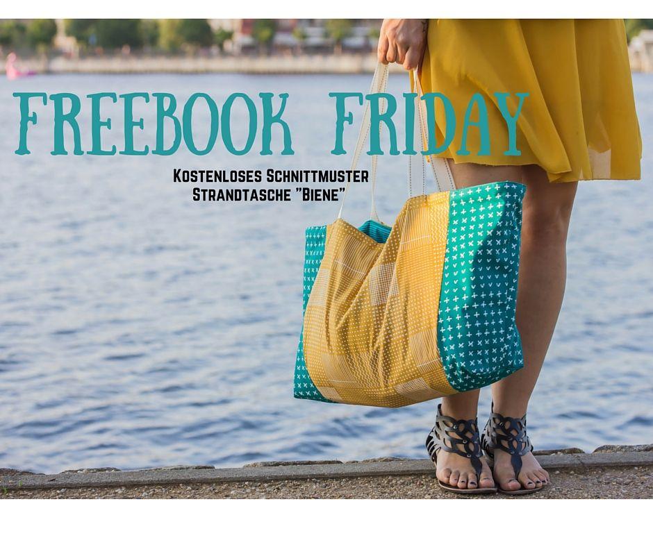 Freebook Friday: Strandtasche Biene inkl. Schnittmuster ...