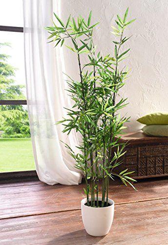 Pflanze Bambus Deko Topfpflanze Dekopflanze Dekoblume Kunstpflanze