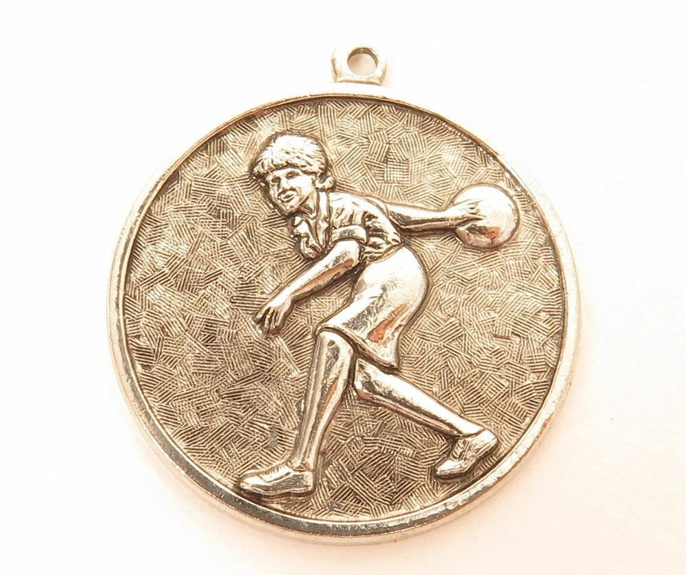 Shiny Silver Plated Old Stock Vintage Sports Bowling Necklace Pendant E523 Ebay With Images Shiny Silver Jewelry Auctions Vintage Sports