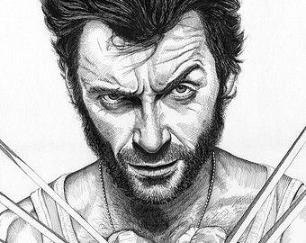 Wolverine Etsy Fr Wolverine Art Pop Art Comic Art