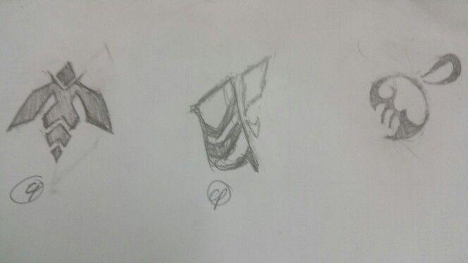 Bee logo sketch