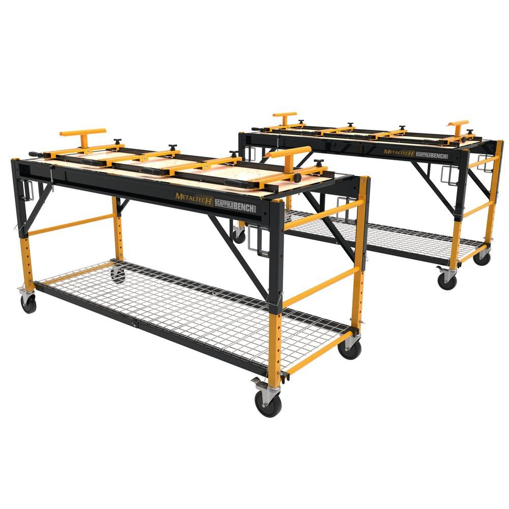 Metaltech Scaffold Bench Primary Workbench 2 Pack I Ciscwbk2 The Home Depot In 2020 Workbench Scaffolding Workbench Plans Diy