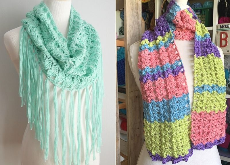 Amazing Beautiful Lacy Crochet Scarves Pattern Center