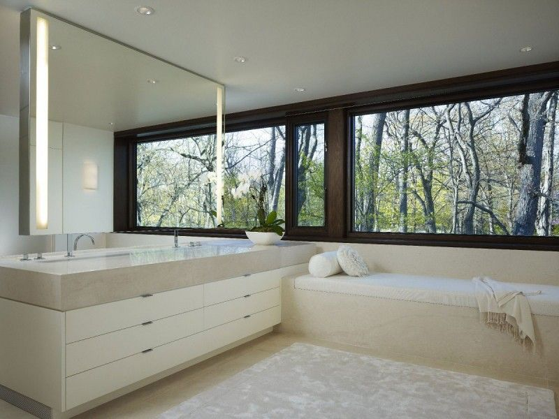 Cute Little Window Seat In This Bathroom. Unsure, However I Like It.  Glencoe Residence By Robbins Architecture