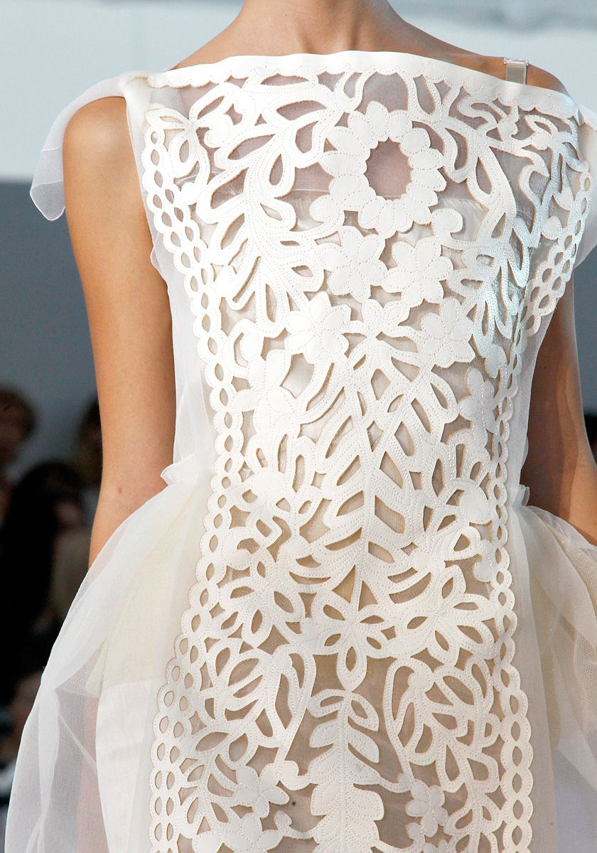 Louis Vuitton white dress.  Extraordinary.