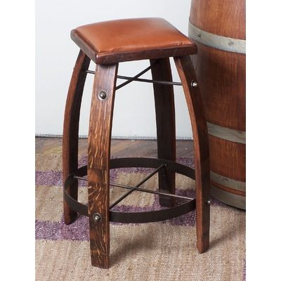 2 Day Designs Inc Strong 2 Day Strong Stave 32 Bar Stool Barrel Furniture Wine Barrel Furniture Wine Barrel Bar Stools