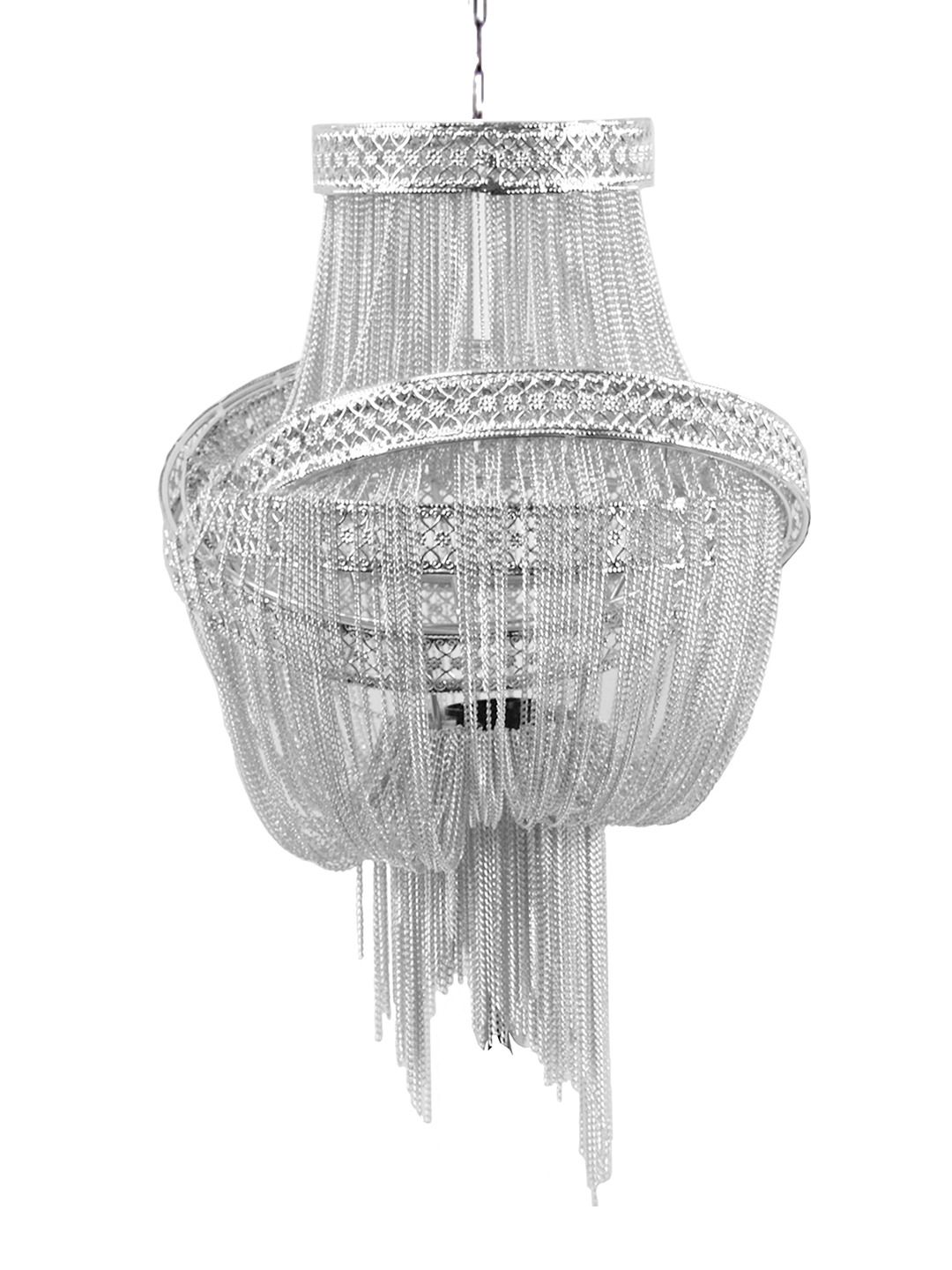 Clara chandelier silver by pangea home home pinterest home clara chandelier silver by pangea home arubaitofo Images