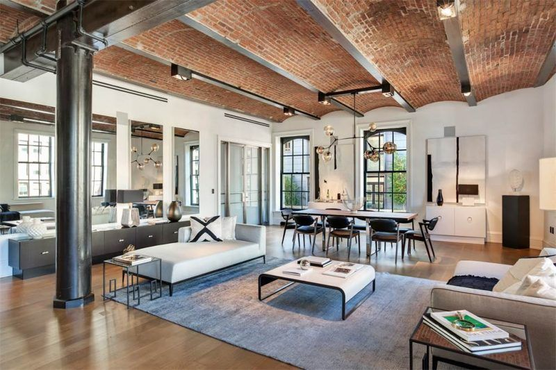 loft dans le puck building new york d co maison loft loft de luxe et salon maison. Black Bedroom Furniture Sets. Home Design Ideas