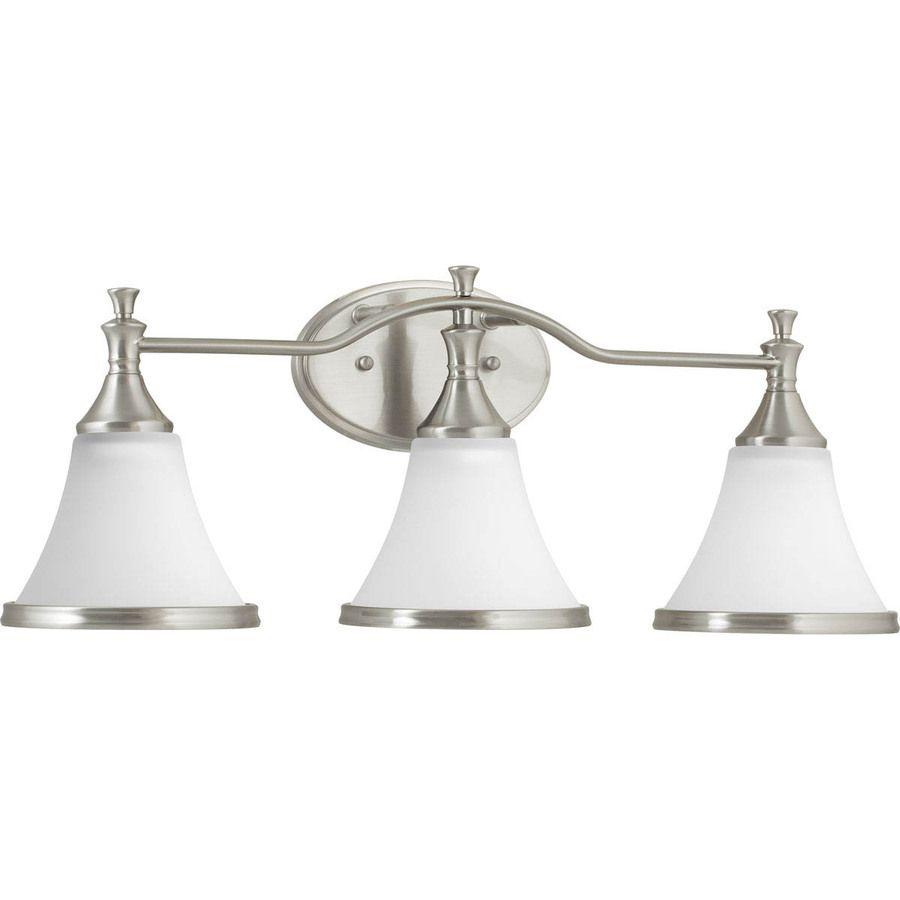 DELTA Valdosta 3 Light 9 125 in Brushed Nickel Bell Vanity Light. DELTA Valdosta 3 Light 9 125 in Brushed Nickel Bell Vanity Light