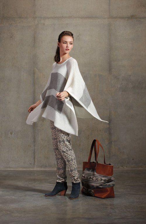 Banded Knit Poncho $309 Pendleton Portland Collection