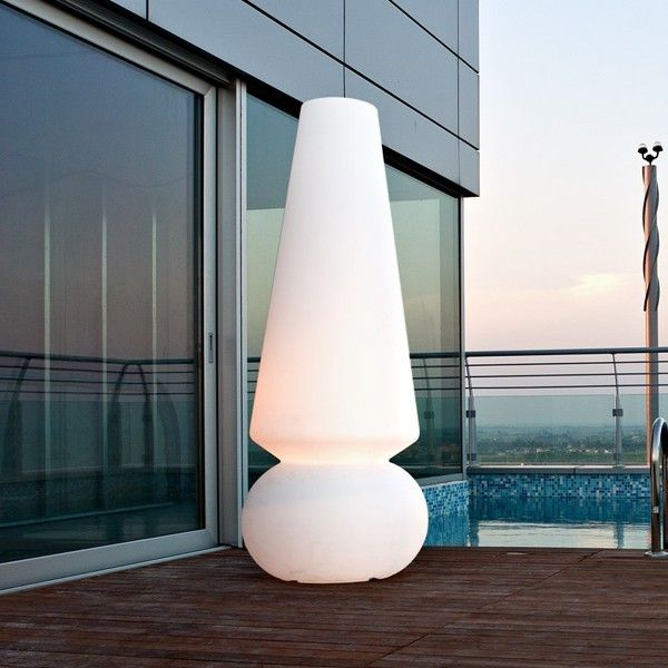 A Tall, Mystical Cone Atop A Wondrous Sphere ... MARGE Floor Lamps