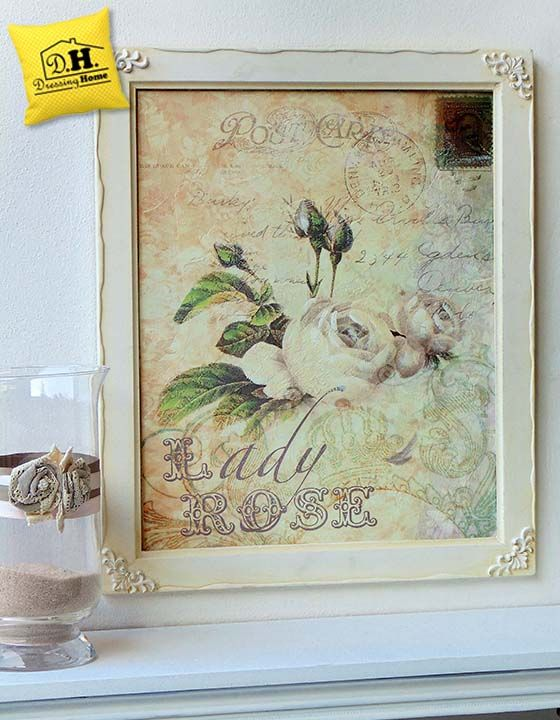Quadro angelica home country vintage shabby chic lady for Angelica home country