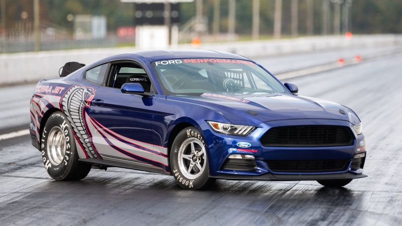 2016 Ford Mustang Cobra Jet Runs An Eight Second Quarter Mile W Video Ford Mustang Cobra Mustang Cobra New Ford Mustang