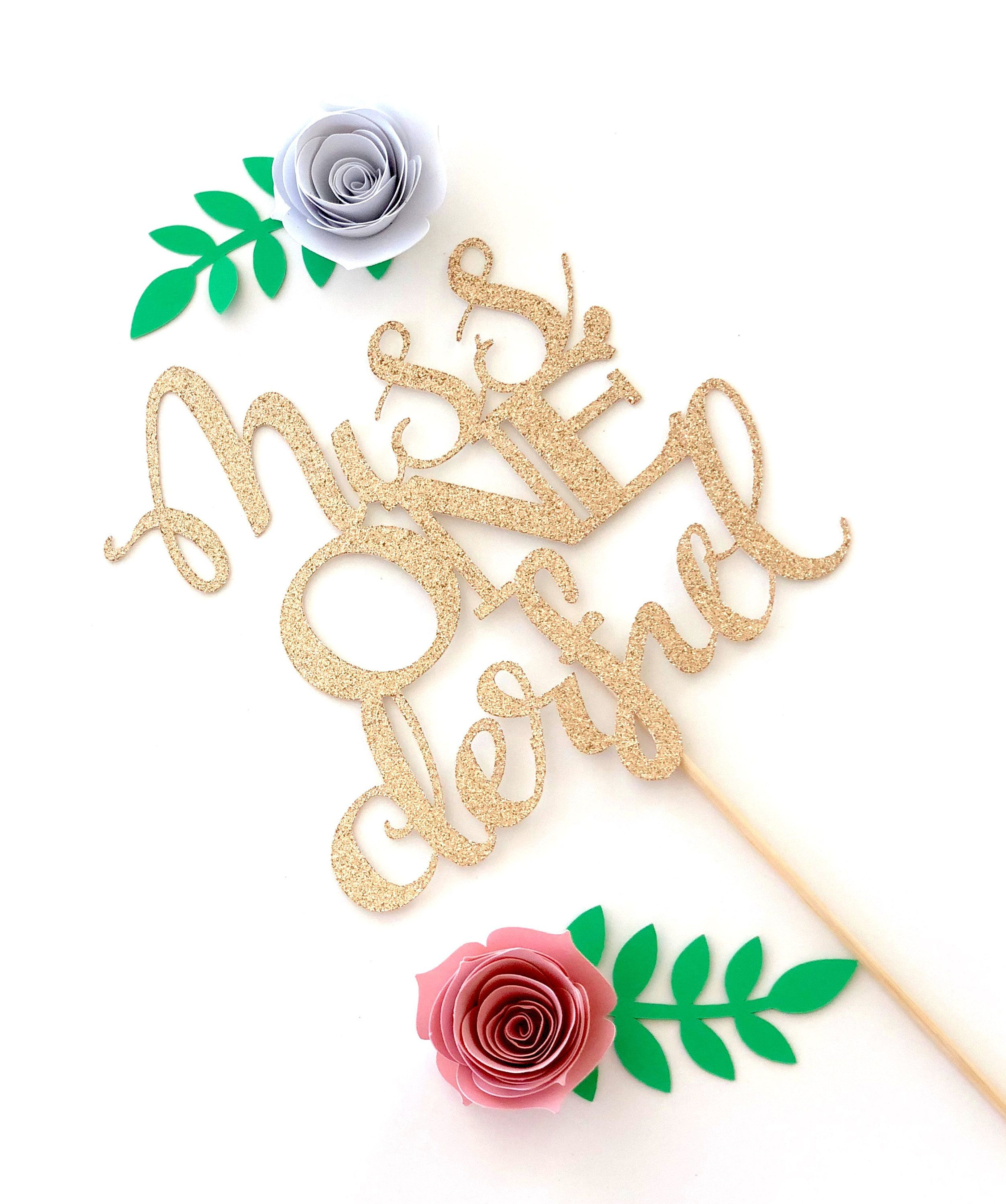 Miss ONEderful Cake topper ONE Cake Topper Gold