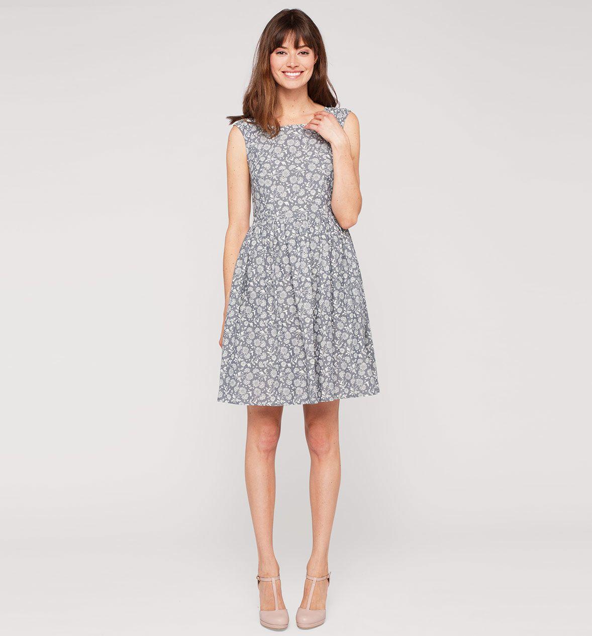 damen kleid in blau / weiss - mode günstig online kaufen