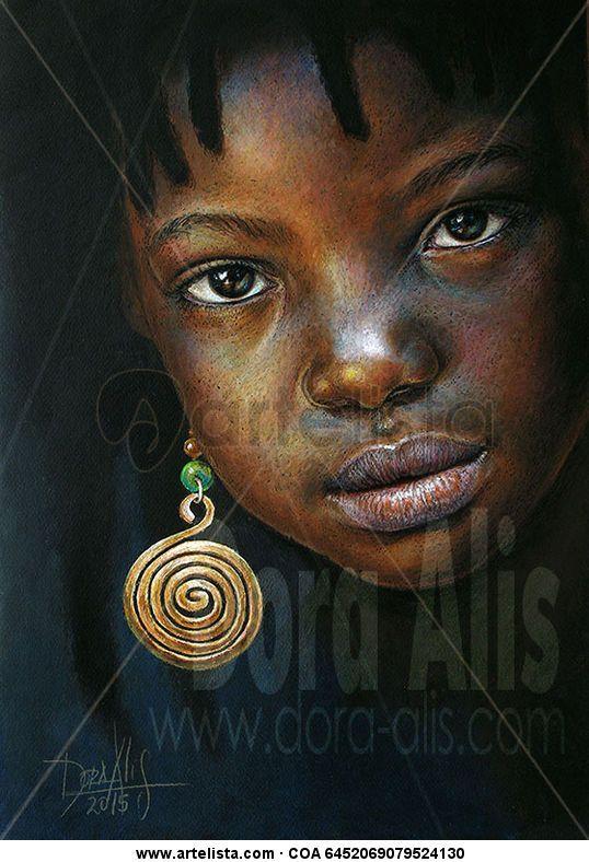africano niña