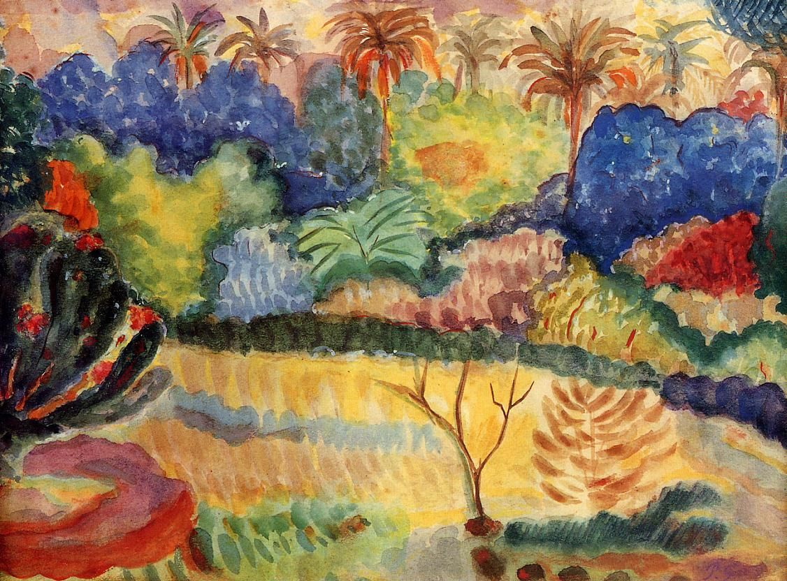 Paul Gauguin - Tahitian landscape, 1897, watercolor on paper
