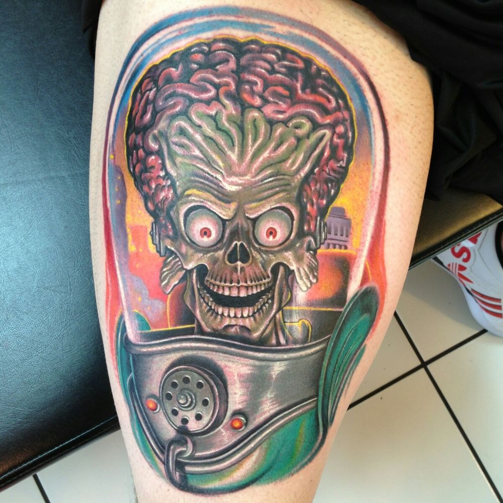 mars attacks tattoo by tattoosbynickp diamond state tattoo tattoo. Black Bedroom Furniture Sets. Home Design Ideas