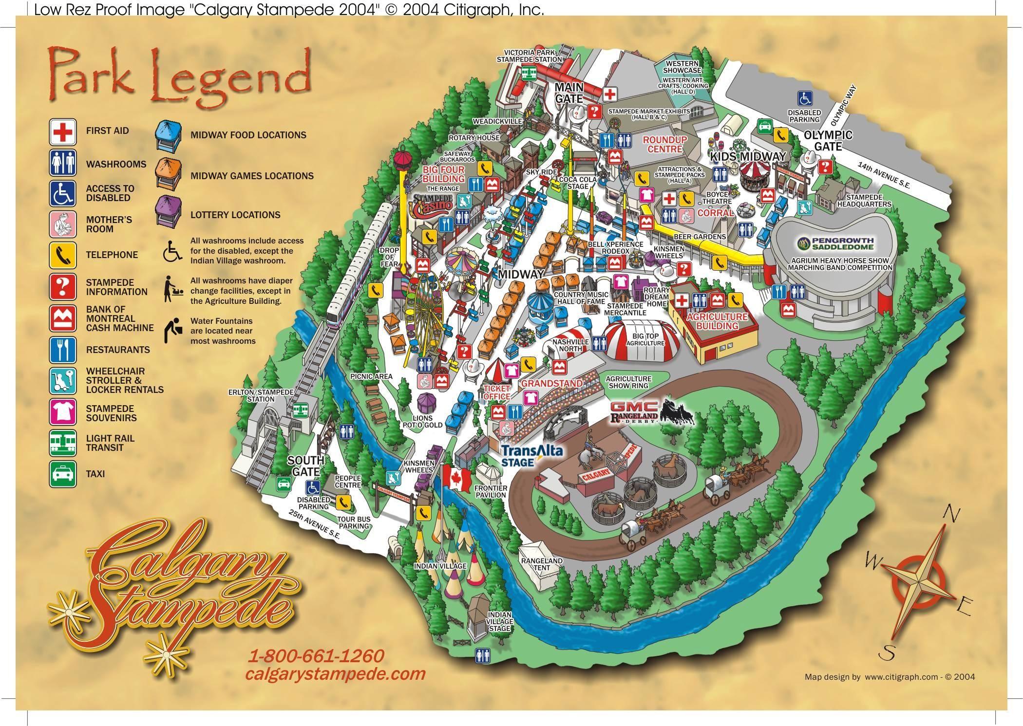 Calgary Stampede Map Compressportnederland