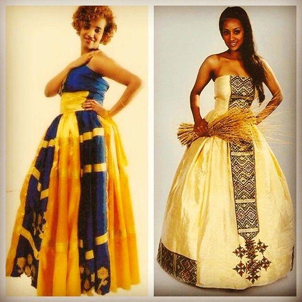 Habesha wedding bride melse design ideas zuria for Habesha dress for wedding