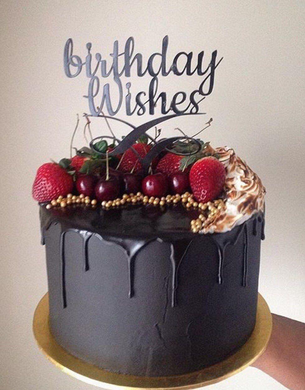 Happy birthday Birthday wishes cake, Drip cakes, Cake
