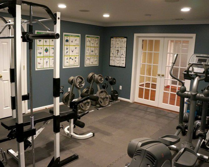 Home gym in basement home diy home gym basement gym room at