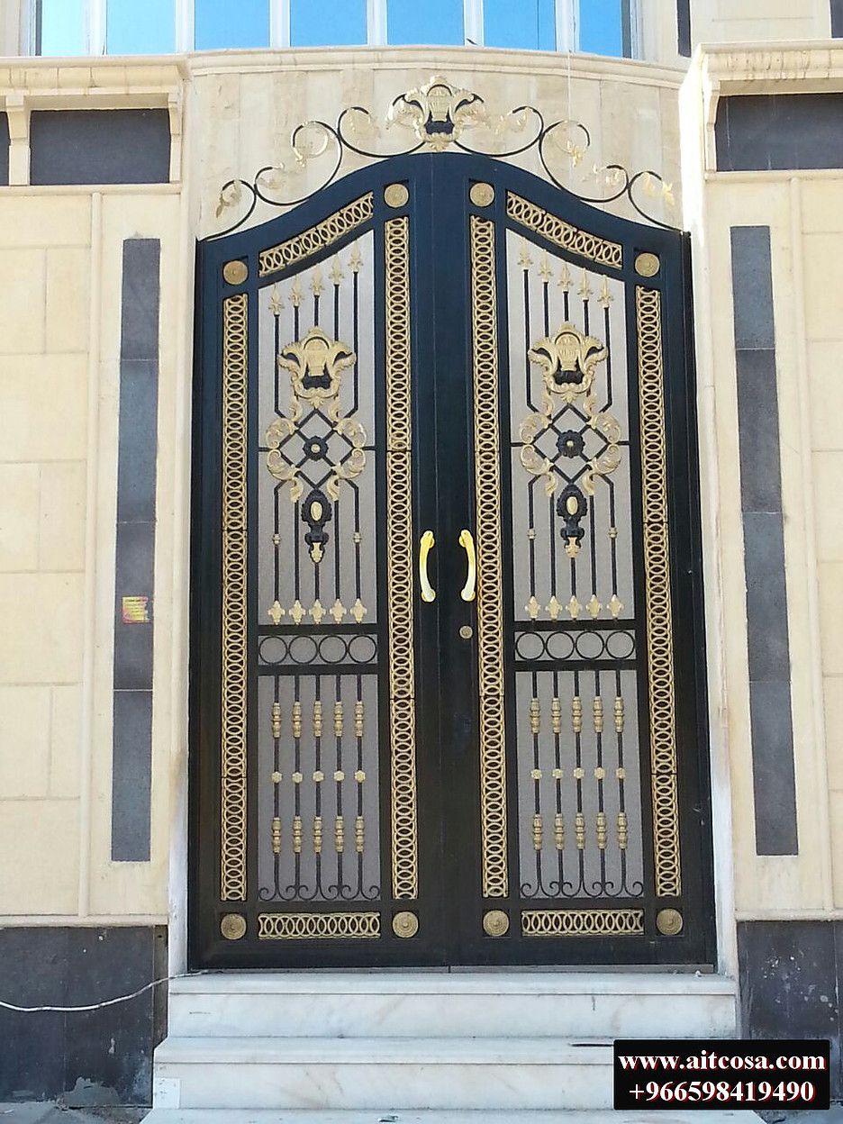 شركة التجارة العالمية المتقدمة للاعمال المعدنية ابواب خارجية 126 Iron Gate Design Front Gate Design Entrance Gates Design
