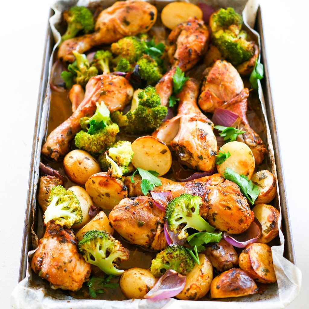 Chicken Drumstick Tray Bake