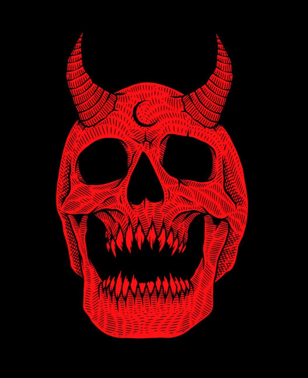 Red one skull. #redaesthetic