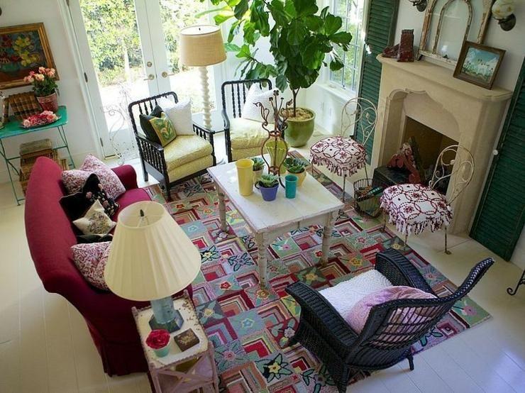 Maison de vacances à la déco intérieure éclectique villa californiennenous