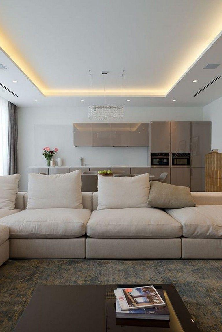 63 Awesome Modern Led Strip Ceiling Light Design Ceiling Light Design Ceiling Design Living Room Living Room Ceiling